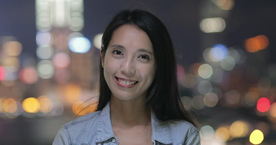 Asian young woman in Hong Kong