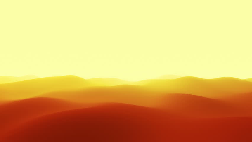 Flying through abstract dunes landscape.
