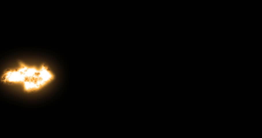 Action Film Elements - Generic Rifle Muzzle flashes over black for Luma Matte