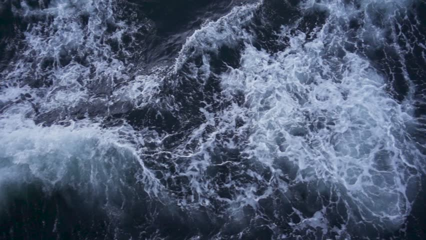 Beautiflull stormy sea waves view