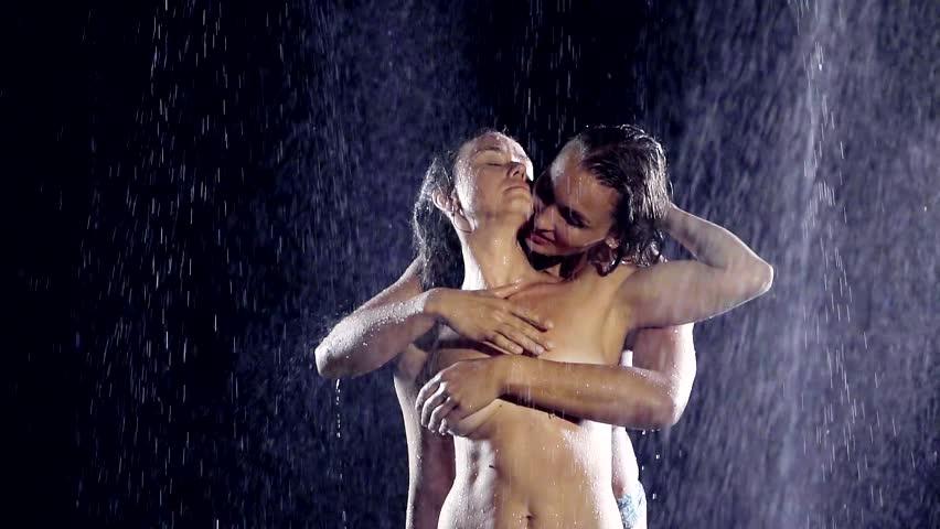 Lesbian sex in rain