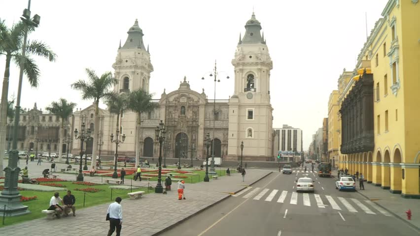 video footage of the Central City of Lima, Peru