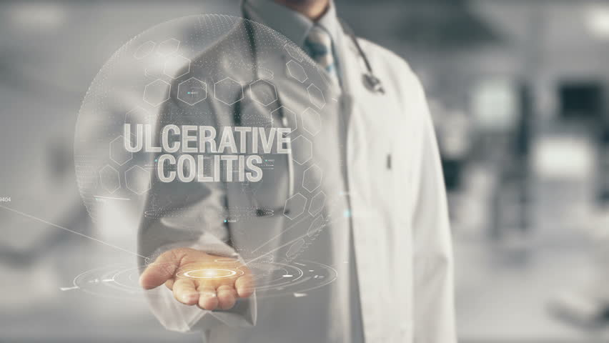 Doctor holding in hand Ulcerative Colitis