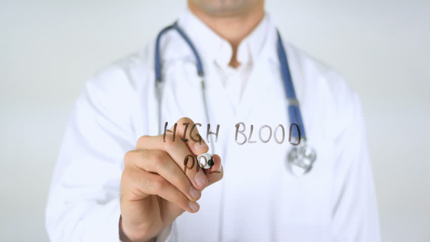 High Blood Pressure, Doctor Writing on Glass | Shutterstock HD Video #29036800