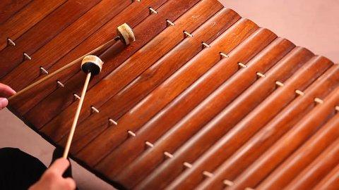 Thai alto xylophone asia music instrument call  ra-naat