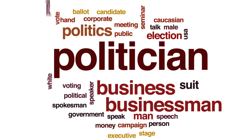 Politician animated word cloud, text design animation. | Shutterstock HD Video #29099620