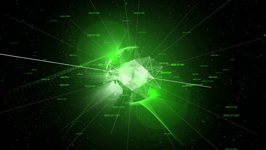 Futuristic Globe Rotate Shining Composition with plexus lines, glow and wind from numbers Night Vision Green   Shutterstock HD Video #29148010
