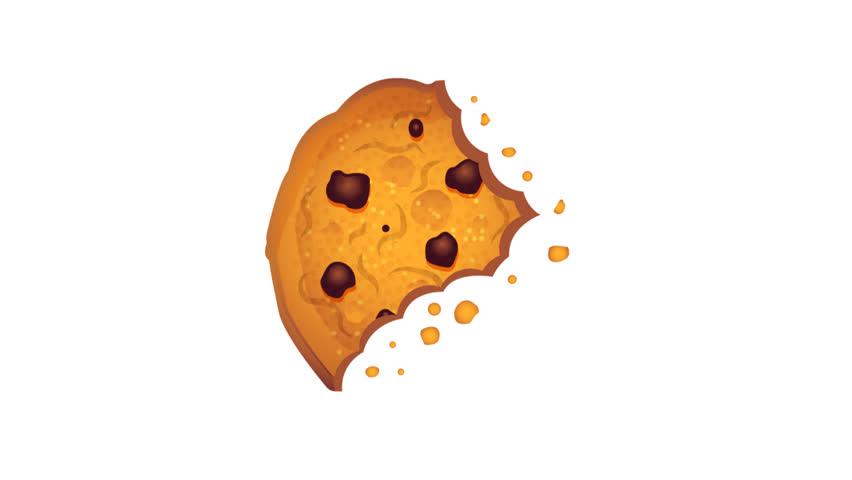 Bitten chip cookie animated