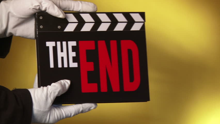 Clapboard, The End, Cinematography, Concept.