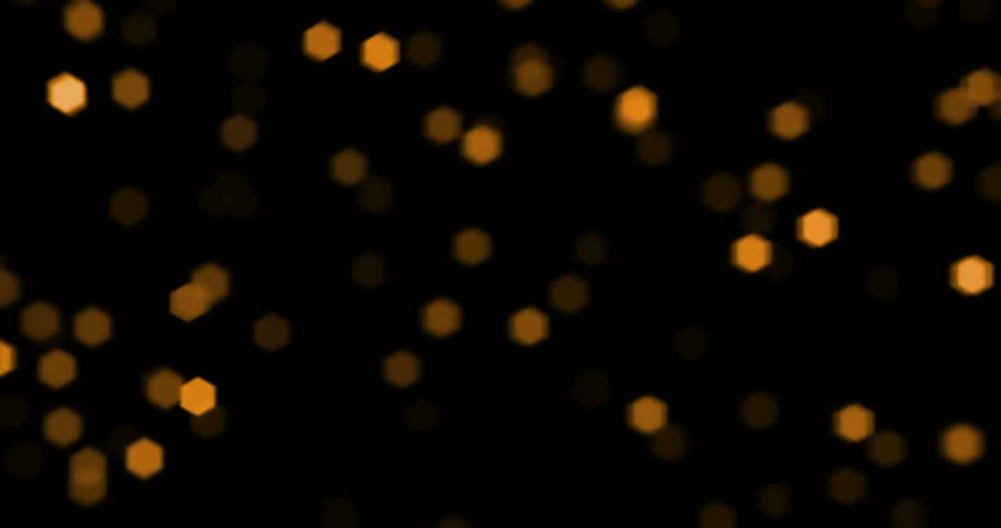 christmas golden particles sparkle with bokeh flowing on black background, gold holiday happy new year concept #29178610
