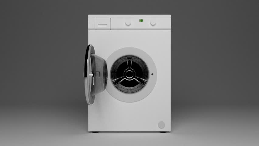 washing machine drum rotating. Homework
