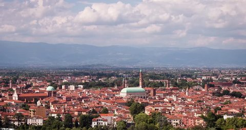 Vicenza on Top. Timlaps in Italy. 4K.