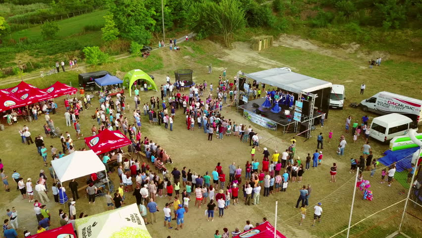 MAHMUDIA, DANUBE DELTA - JULY 29: Diversity fest,aerial perspective. A festival with music, fun and a lot of nature on July 29, 2017 in Mahmudia, Danube Delta. #29347210