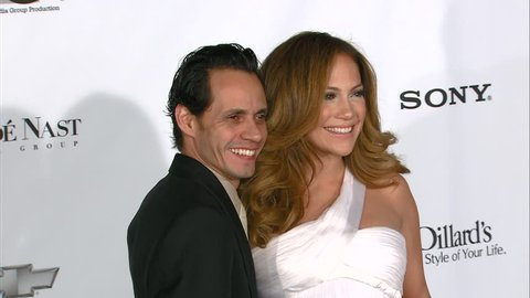 Hollywood, CA - DECEMBER 02, 2007: Marc Anthony, Jennifer Lopez walks the red carpet at the 2007 Movies Rock held at the Kodak Theatre
