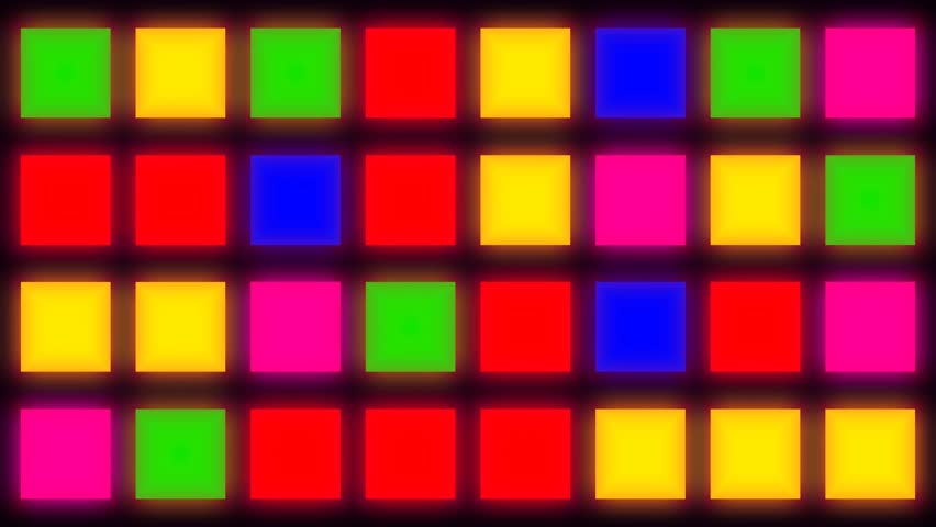 Colorful Flashing Chequered Squares Stock Footage Video