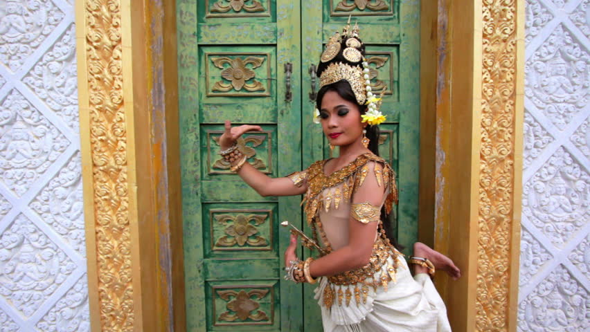Apsara Dancer beautiful supernatural female in Asian mythology