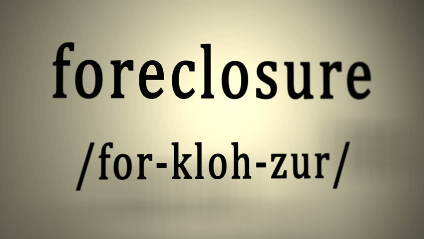 Definition: Foreclosure   4K Stock Video Clip