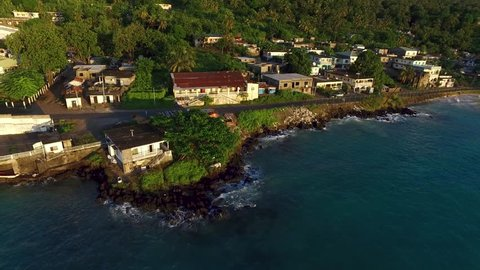 the island of Moroni in the Comoros, off the coast of africa