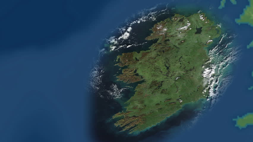 Close up of green ireland country in united kingdom zoom out to close up of green ireland country in united kingdom zoom out to world map showing geographical location continents australia africa europe america asia gumiabroncs Choice Image