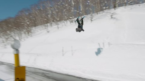 Ski Accident, Double Backflip Over Road to Slam on Head