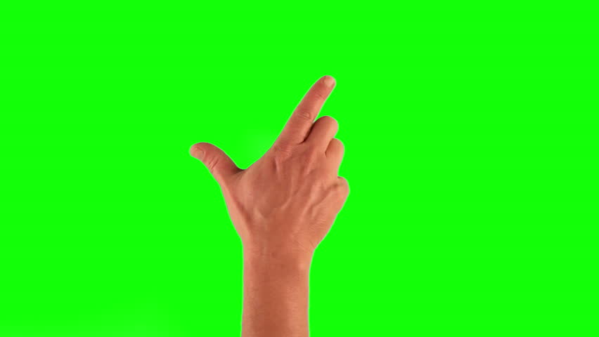 Set of 14 hand gestures, showing the uses of computer touchscreen, tablet, trackpad or ipad. Full HD with green screen. modern technology, 1080p, 1920x1080