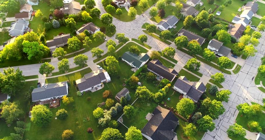 Beautiful Neighborhood in Summer, at Stock Footage Video (100 ...