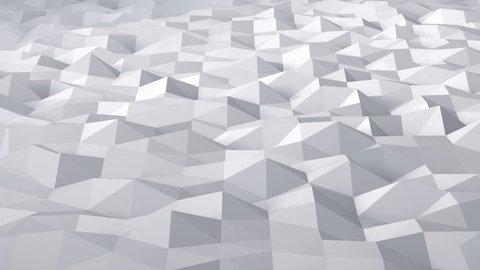 Geometric Triangle Wall waving background.