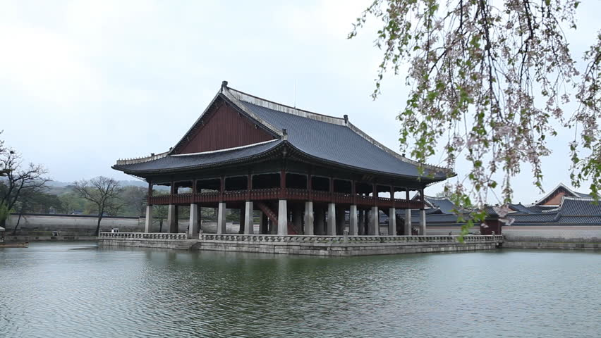 Seoul Gyeonghoeru Pavilion Gyeongbokgung Palace Greatly Blessed By Heaven