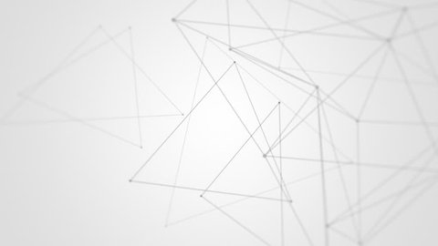 Abstract polygonal black wireframe network background - connectivity or networking concept