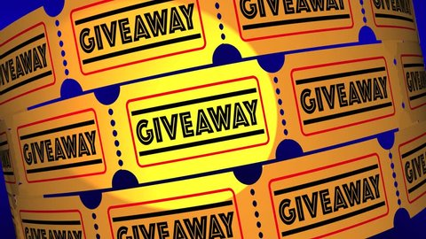 Giveaway Free Gift Offer Premium Tickets 3d Animation