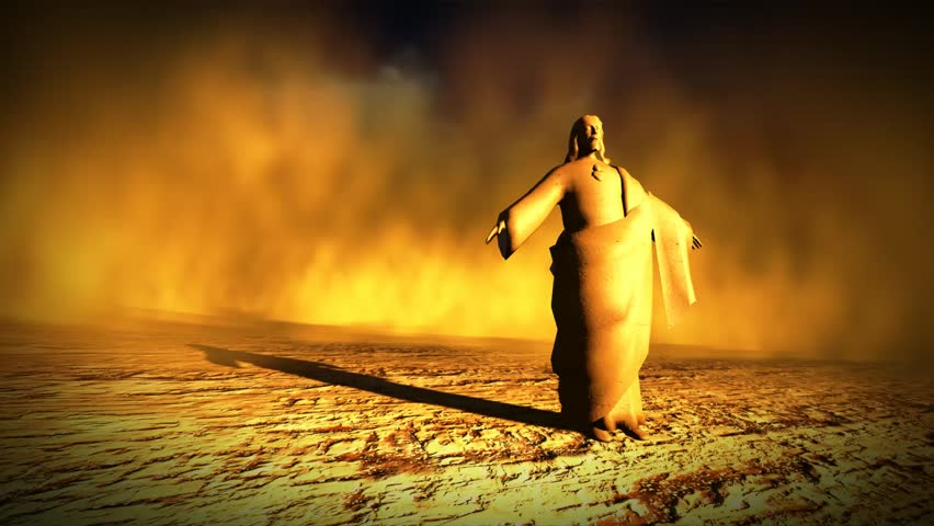 Jesus the Redeemer in the desert