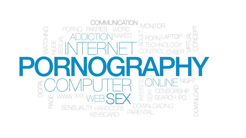 Pornography Animated Word Cloud, Text Stock Footage Video (100 ...