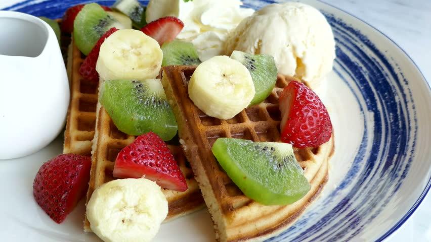 Header of waffle