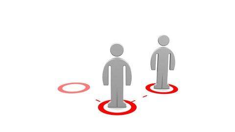 Network building / multilevel marketing - 3d animation