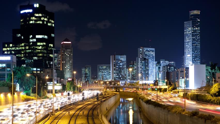 Traffic Time Lapse in Tel Aviv - Ayalon Freeway