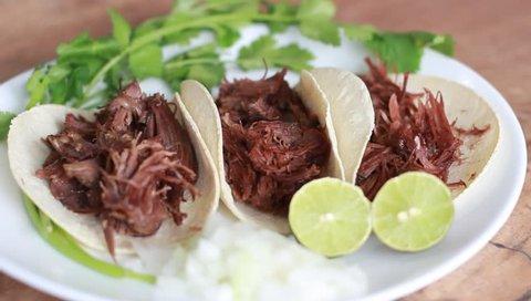 Beef tacos, tacos de barbacoa