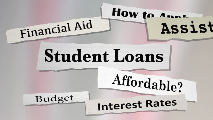 Student Loans Newspaper Headlines College Debt 3d Animation | Shutterstock HD Video #29827480