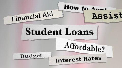 Student Loans Newspaper Headlines College Debt 3d Animation