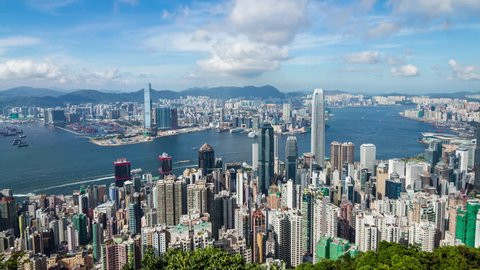 Timelapse of Hong Kong sunny day