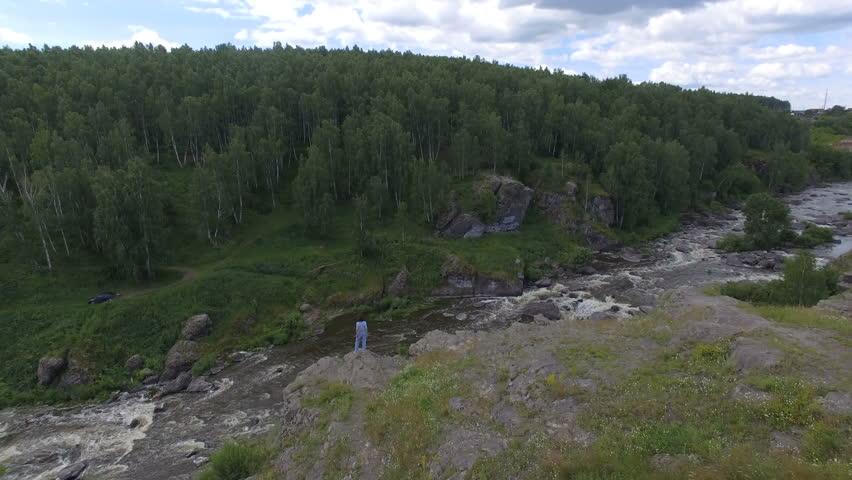Anonymous girl posing on breathtaking landscape   Shutterstock HD Video #29872510