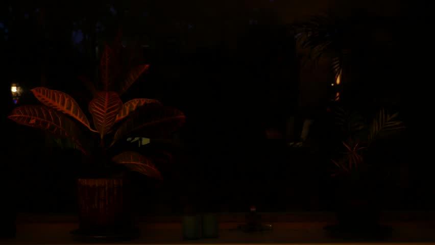 Burglar using crowbar to break into a house at night – 4K | Shutterstock HD Video #29933200