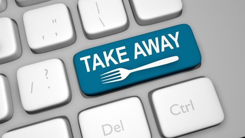 TAKE AWAY Keyboard Key Animation