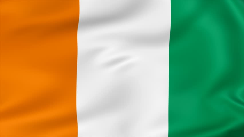 animated flag of ivory coast seamless loop stock footage video 2996260 shutterstock
