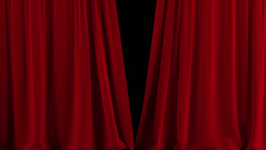 Red Stage Curtain. High Quality Stock Footage Video (100% ...