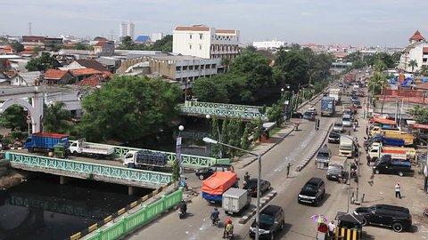 View from Watchtower of Sunda Kelapa - the old port of Jakarta.