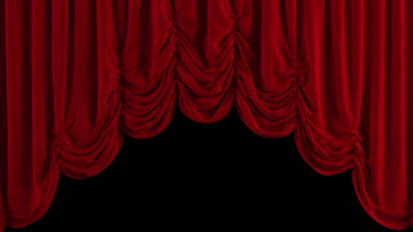 Opening and closing red curtain stock animation royalty free stock - Opening And Closing Red Curtain 3d Animation Stock