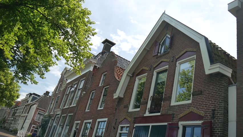 sunny day home office. DOKKUM, NETHERLANDS - CIRCA JULY 2017: A View Of The Beautiful Vilage Dokkum Sunny Day Home Office P