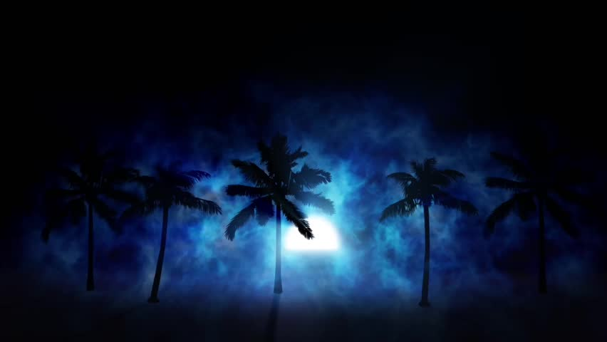 Moon rising over beach | Shutterstock HD Video #30084310