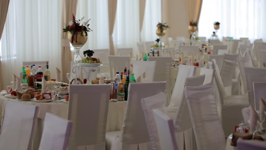 Interior Of A Wedding Hall Stock Footage Video 100 Royalty Free