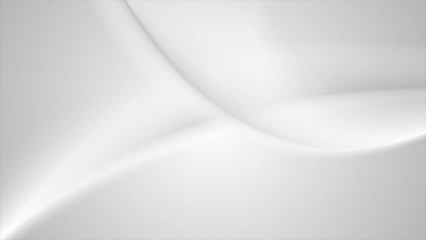 Flowing abstract grey white waves graphic motion design. Video animation Ultra HD 4K 3840x2160